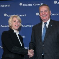 Sally Painter Joins the Board of Directors of the Atlantic Council with Board Chairman General James L. Jones, Jr.