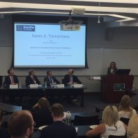 "Karen Tramontano Speaks on Panel DIscussion ""Approaches to International Trade in the Era of Globalization"" at Trachtenberg School of Public Policy & Administration at The George Washington University."