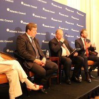 "Sally Painter Moderates Atlantic Council Panel Discussion ""Defense and Deterrence in Europe: A Baltic Contribution to Burden Sharing"" with the Ministers of Defense of Estonia, Latvia, and Lithuania."
