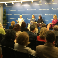 "Sally Painter Moderates Panel Discussion at the Atlantic Council on ""Taking Stock of the Transatlantic Relationship: Female Leaders Reflect on 2017."""